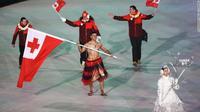 """Тонгагийн """"тосон биет"""" залуу Өвлийн Олимпийн нээлт дээр ахин орж иржээ"""
