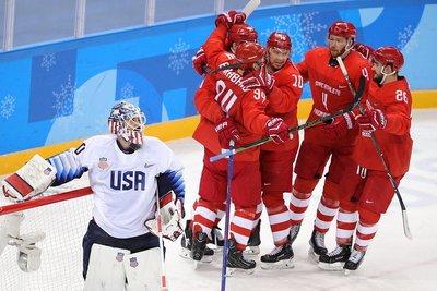 """Пёнчан-2018: Оросын хоккейчид америкчуудыг """"бут ниргэж"""", хэсгээсээ нэгээр гарлаа /фото/"""