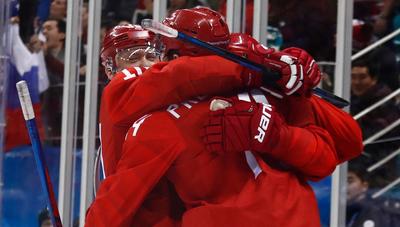Пёнчан-2018: Оросын хоккейчид норвегичуудыг хожиж байна