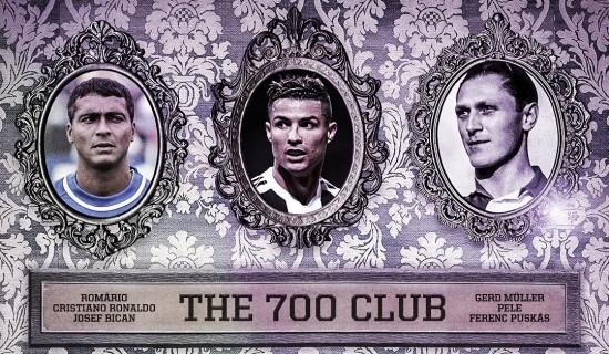 Роналду 700 гоол оруулсан 6 дахь хөлбөмбөгч